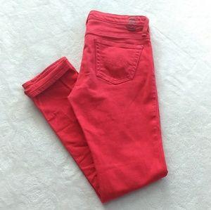 AG red The Stilt jeans